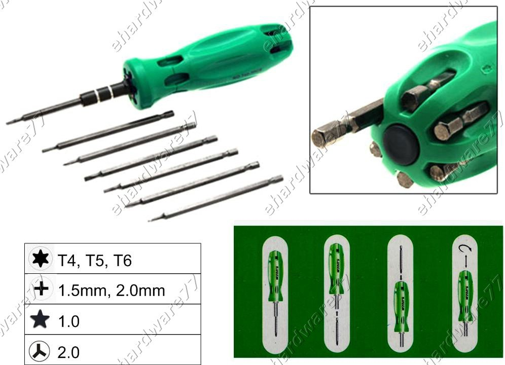 7in1 Changeable Mini Screwdriver Set (W0352B)