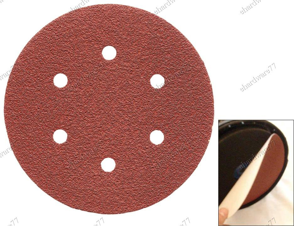 "5"" Disc Hook & Loop Sandpaper (Dust Hole) Grit #80 (SDC0580)"