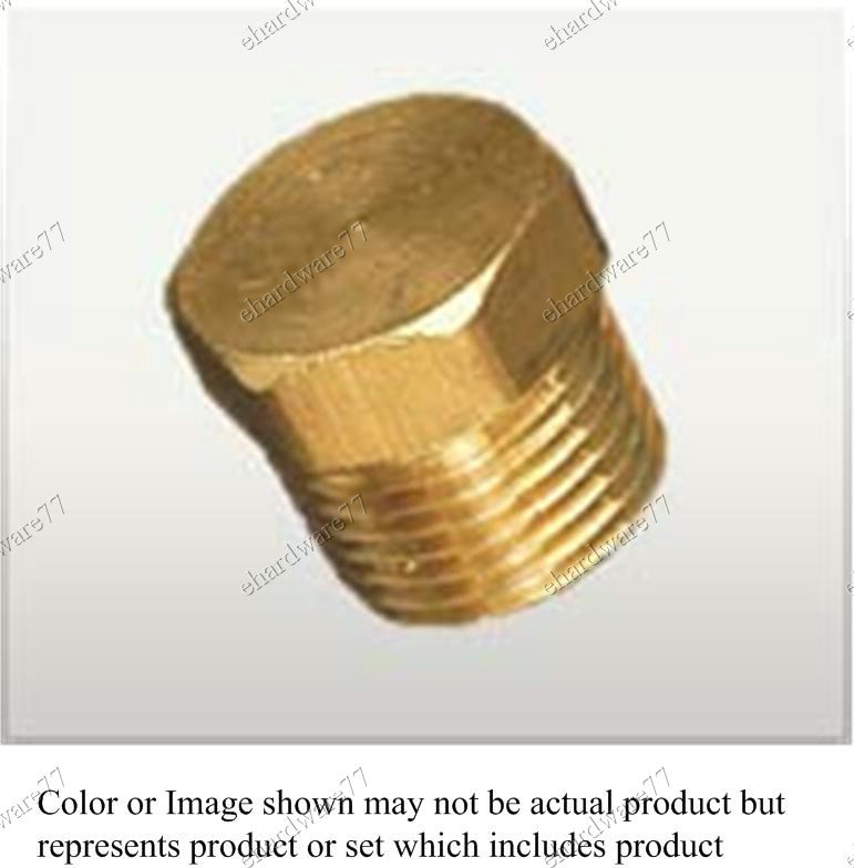 """Brass Fitting - Male Plug 3/8"""" BSPT (DB3)"""