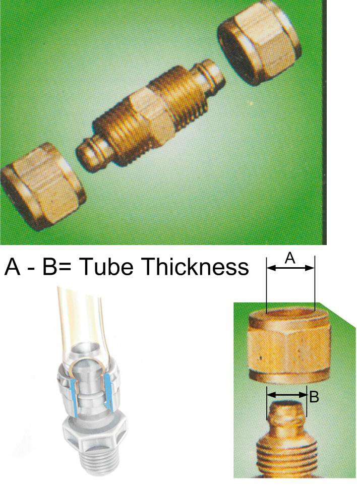 "Nylon Tube Fitting - Straight Joints 3/8"" OD Tube (DUCB3)"