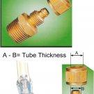 "Nylon Tube Brass Fitting O.D 1/2"" x 1/4"" BSPT Male (DCB42)"