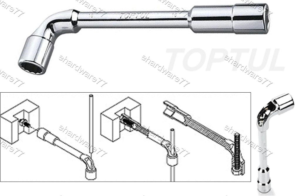 TOPTUL Angled Socket Wrench 14mm (AEAE1414)