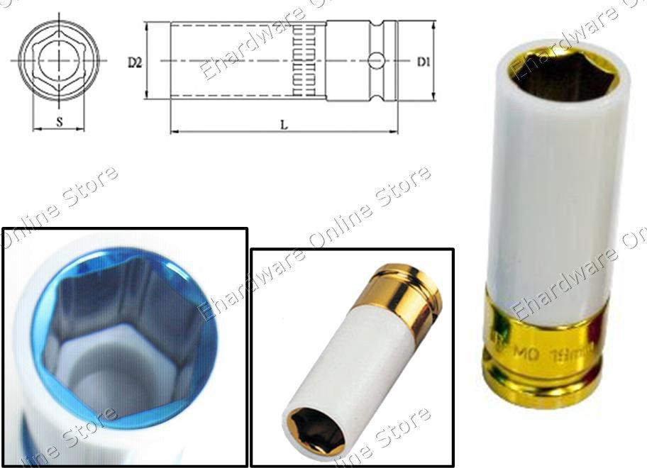 Thin Wall Wheel Nut Protector Deep Socket 19MM (330419)