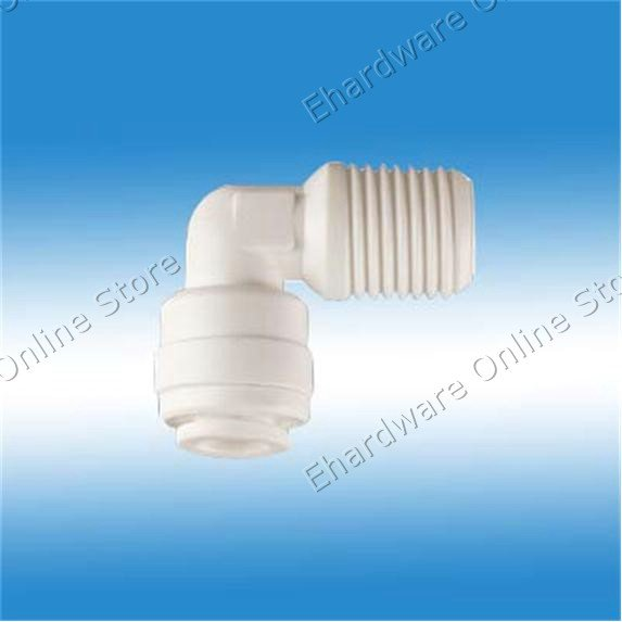 """RO System Quick Fitting - Male Elbow 1/4""""Tube x 1/2"""" Male Thread (4ME8)"""
