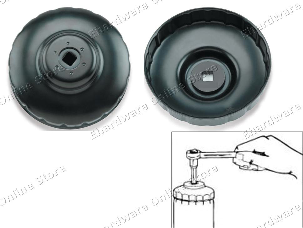 STEEL CUP TYPE OIL FILTER WRENCH 93MM 36FLUTES (JDAH9336)