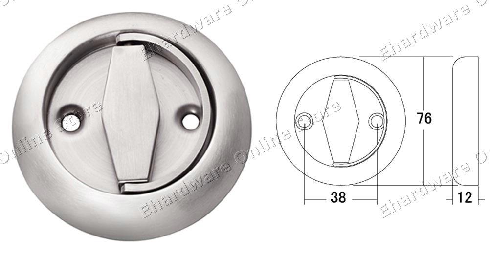Stainless Steel Door Flush Pull Ring Handle Sg001
