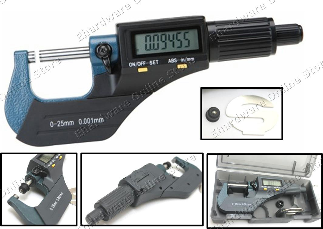 Digital Electronic Outside Micrometer 0-25mm/0.001mm (64VC630)