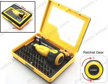 R'DEER 34PCS MULTI-FUNCTION RATCHET SCREWDRIVER BIT SET (RD9172)