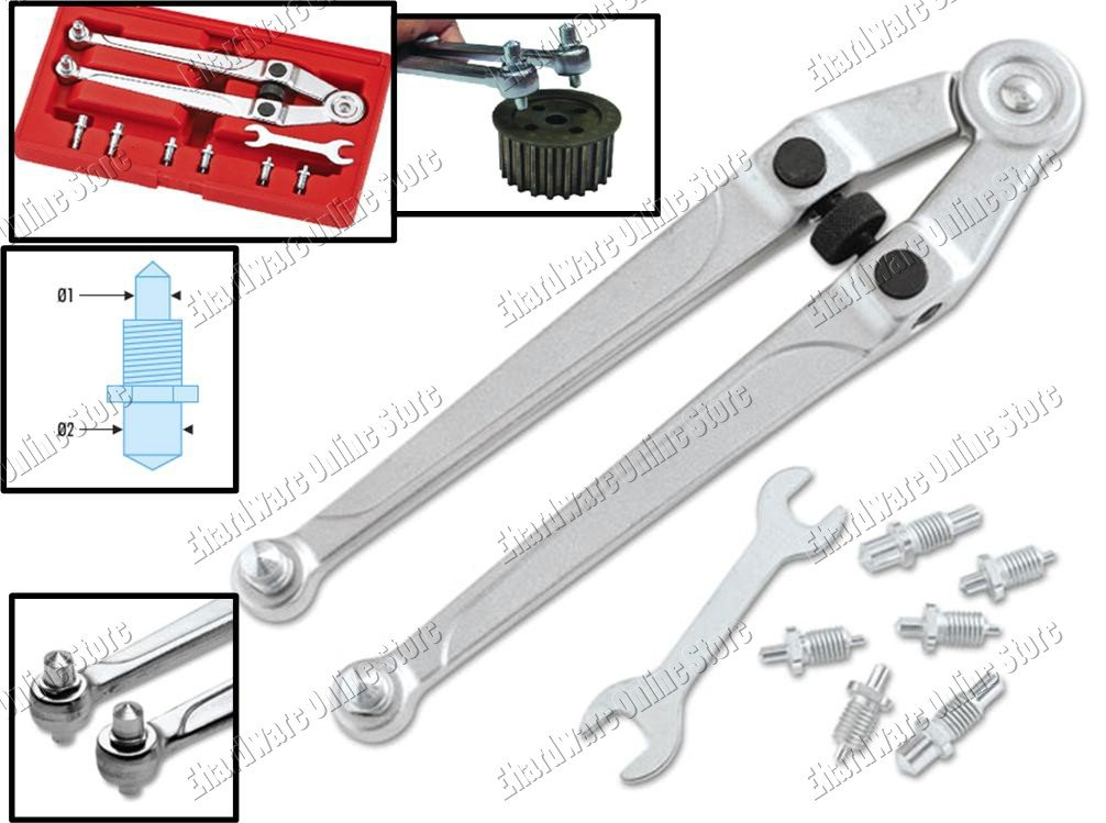 Adjustable Pin Wrench Spanner For Nuts With Top Holes 4755