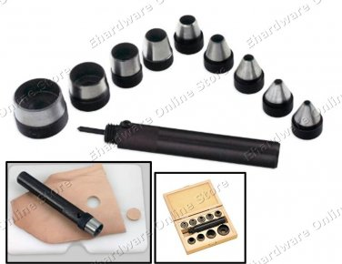 Interchangeable 10-Pieces Hollow Punch Set 5-32mm (54PP532)