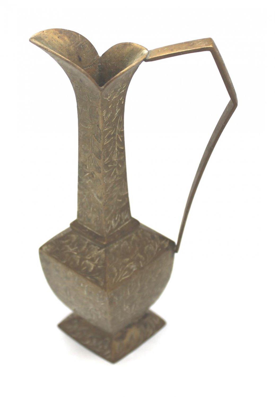 Antique Vintage Rhombus Shape Etched Brass Pitcher (RSP)