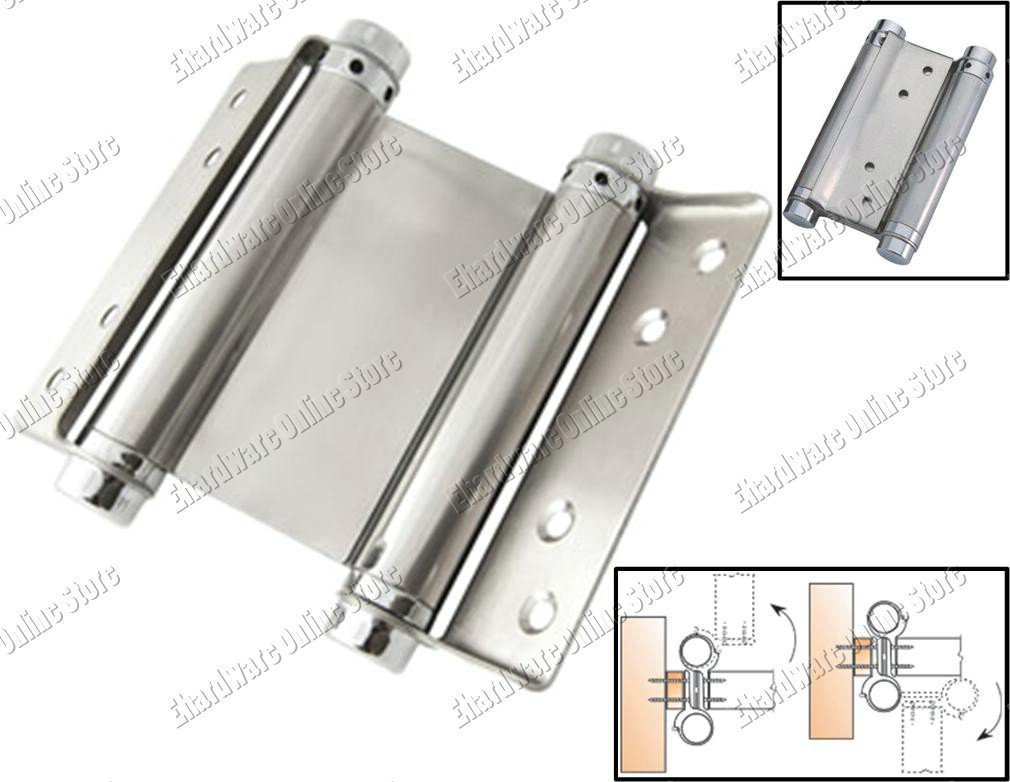 Stainless Steel Double Action Spring Hinges 100mm 4