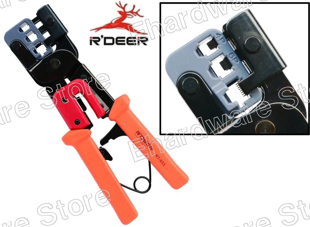 Network Telephone Modular Pro Ratchet Crimping Tool (RT-933)