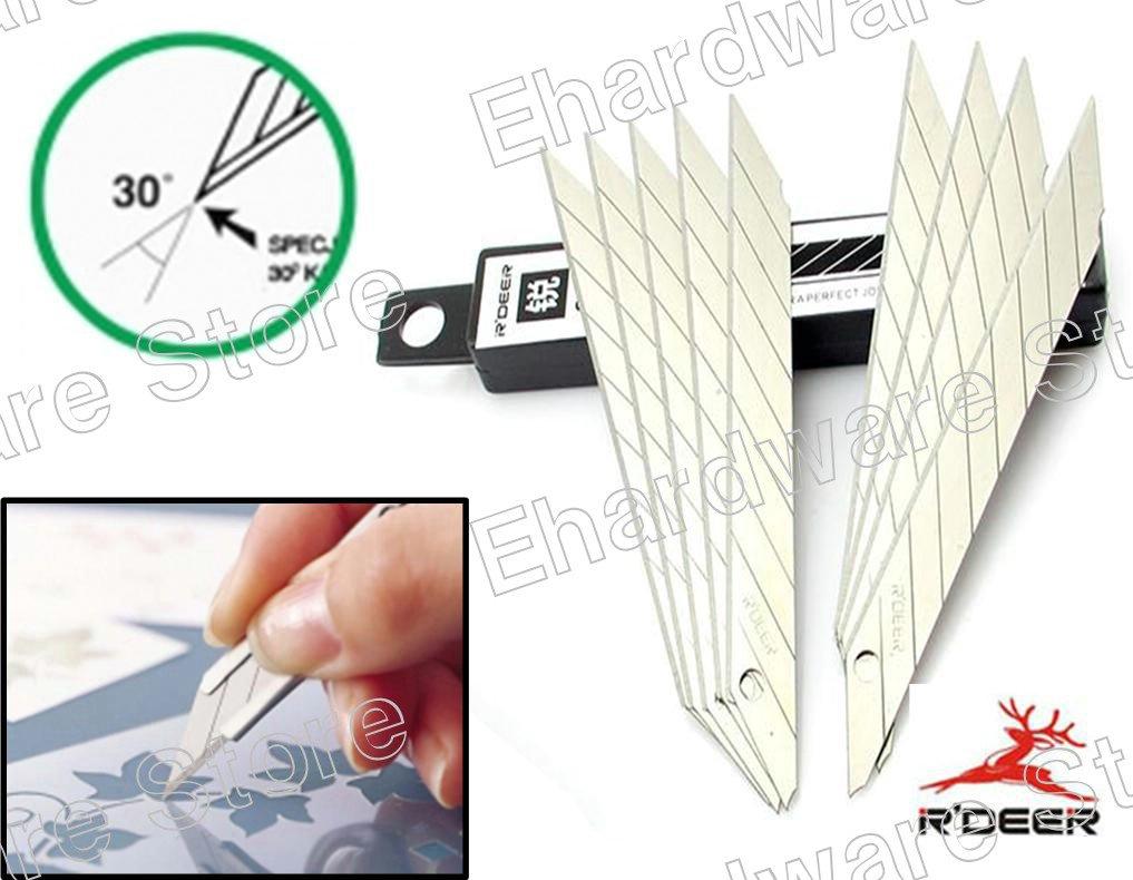 30-Degree Extra-Sharp Slim Graphic Knife Refill Blades 9mm (RT-B39)