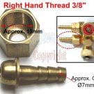 "Welding Torch 1/4"" Hose Fitting with Right Hand Thread Swivel Nut 3/8"" (C46)"