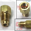 "1/4"" Female SAE x 1/2"" Male ACME R22 To R134a Adapter (CB-08MX04F)"