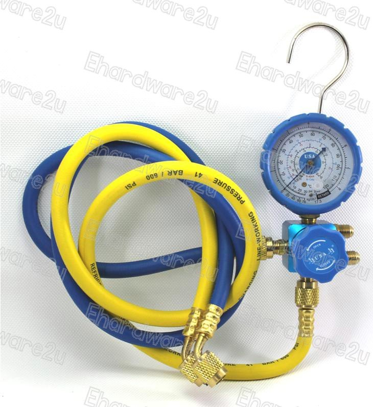 "Single Valve Low Side Manifold Gauge R22 1/4""SAE Hose (CT468GFL)"