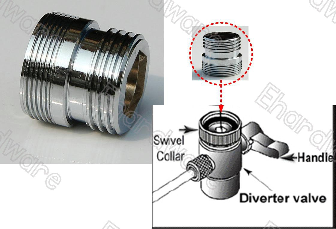 "Water Filter Diverter Male Adapter M22xG1/2"" (MM04XM22)"