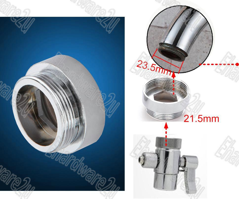 Sink Tap Large Spout Aerator Thread Reduction Adaptor M24xM22 (MFM22XM24)