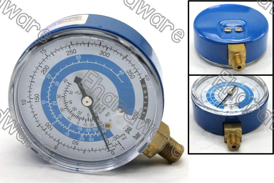 Manifold Replacement Gauge Low Side R22/R134a/R404a/R410a (Blue) (MGR-B)