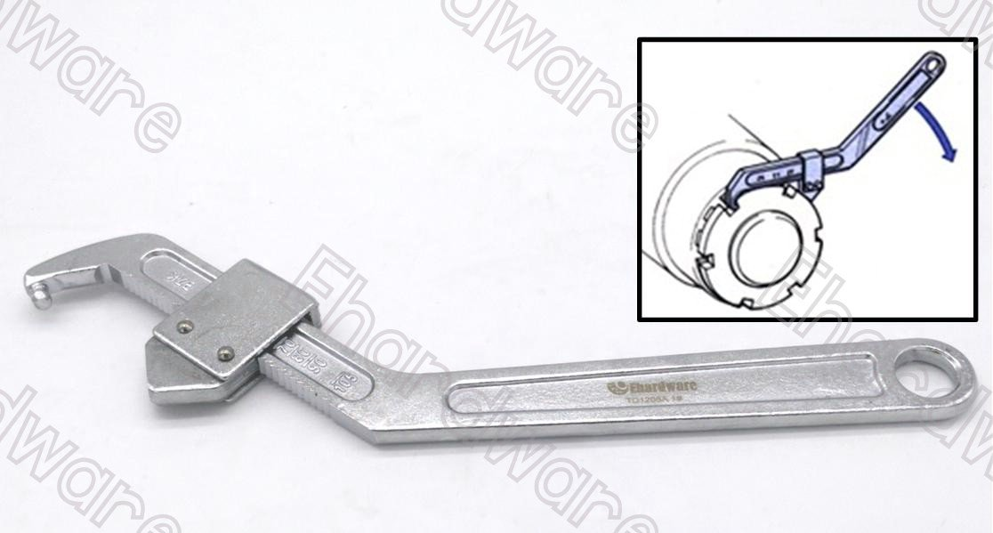 Adjustable Hook Pin Wrench Spanner 35-105mm (TD1208A-1)