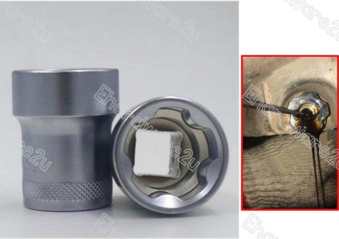 5-Point Oil Drain Plug Socket 23mm 5T (DS23-5P)