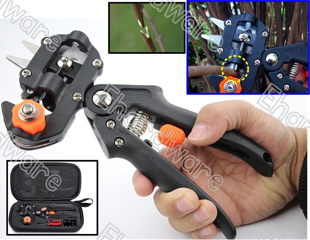 2-In-1 Plant Fruit Grafting Pruning Tools With 3-Type Blade Set (80GC005S)