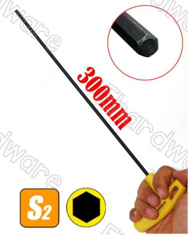 Extra Long 300mm Length T-Handle Hex Key Wrench 6mm (TAH-H6)