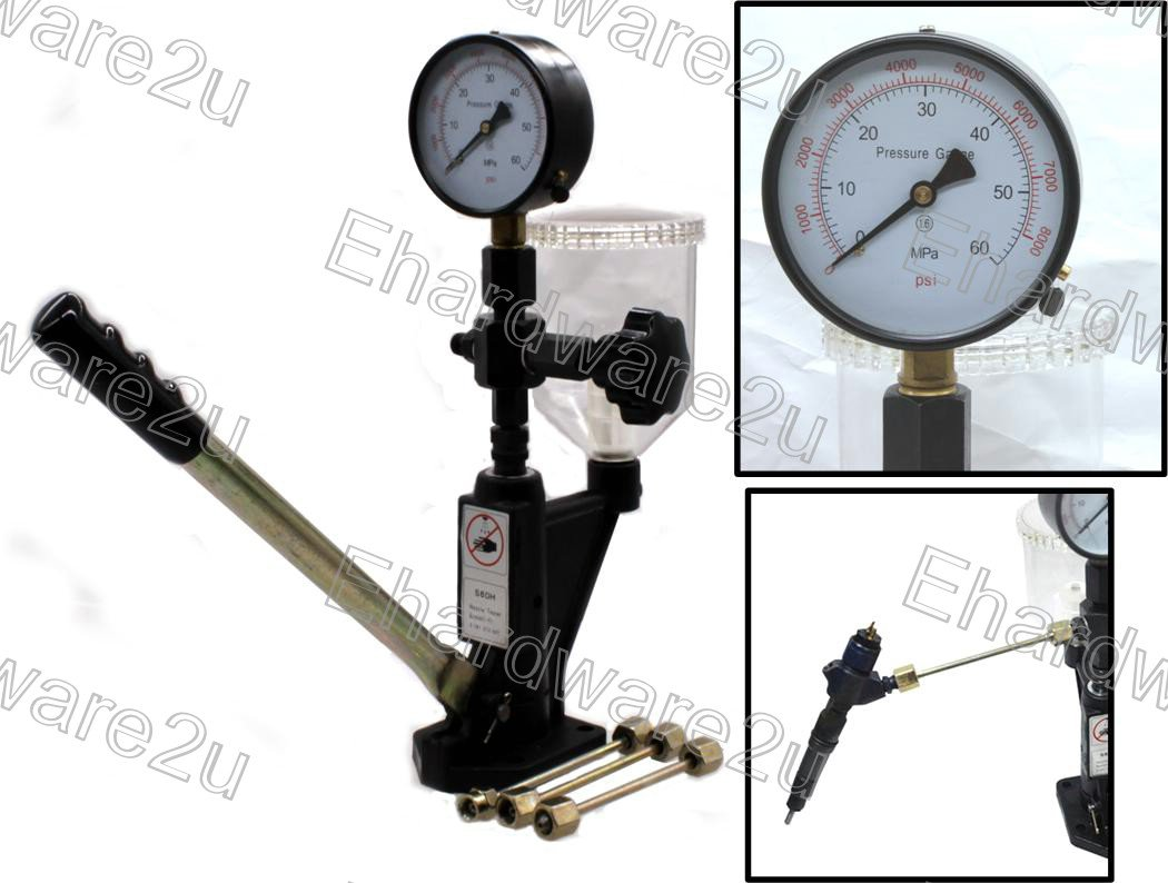 Hand Pump Pressure Tester For Diesel Injector Nozzle Test & Calibration 600Bar (4818R)