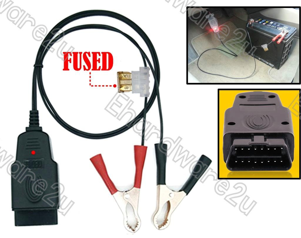 OBD2 Plug Memory Saver Power Supply When Change New Battery (4726A-BM)