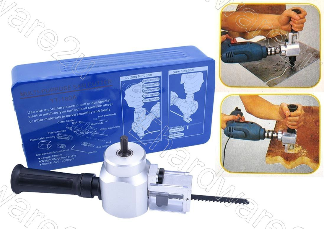 2in1 Metal Wood Plastic Nibbler And Saw Power Drill Attachment (YT-180A)