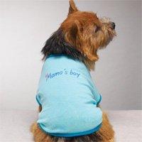Moma's Boy Tshirt Dog Clothes Blue  (med)