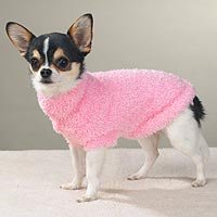 Pink Sweater Dog Clothes Girlie (SM)