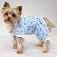 Dog Clothes Pajamas PJs BLUE! BEARS! (SM)
