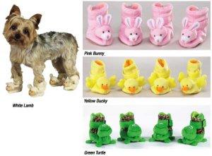 Dog Pajama PJ SLIPPERS!  Must SEE!  Duckie (SM)