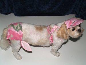 Pink Camo Dog Bikini XXsm