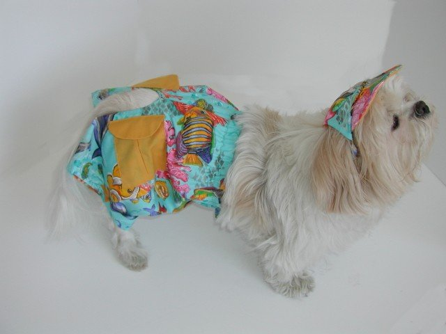 Salt Water Boys Cargo Shorts Jammer Swim Trunks Suit Dog Clothes XXXsm-Small