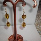 Amber Rounds Art-Glass Earrings