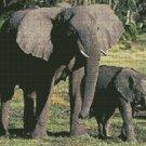 Counted Cross Stitch Kit - ELEPHANTS