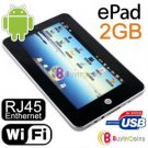 """ePad 7"""" Touch MID Notebook Android USB Enthernet RJ45"""