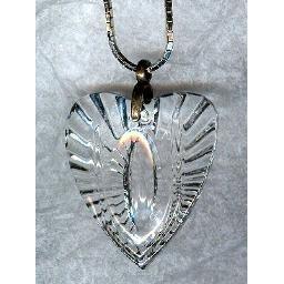 "Big ""Crystal"" Cast GLASS HEART Pendant"