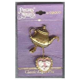Collectible PRECIOUS MOMENTS Teapot & HEART Friendship PIN