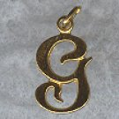GOLD over STERLING Silver INITIAL G CHARM signed BEAU