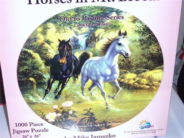 Horses in Mt Brook Out to Pasture Series 1000 PC Puzzle