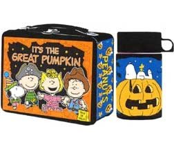 Peanuts Its the Great Pumpkin Metal Lunch Box Thermos NEW