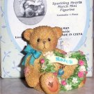Cherished Teddies March  Birthstone Figurine NEW