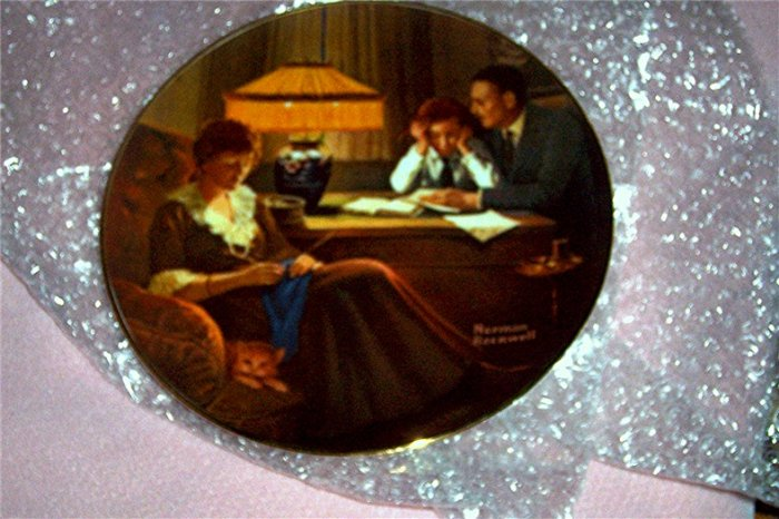 Norman Rockwell Limited Edition Collector Plate Father's Help