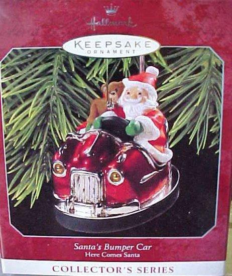Santa's Bumper Car Here Comes Santa Hallmark Ornament 1998