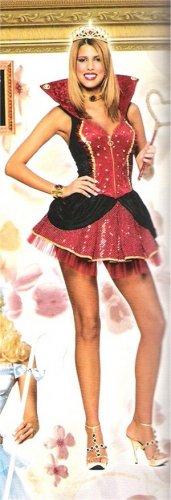 Fancy Dress Queen of Hearts Ladies Costume SZ LG 12-14