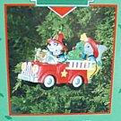 Holiday Heroes Treasury of Christmas Ornaments Enesco NEW Fire Truck Dalmatian